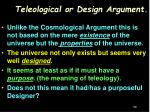 teleological or design argument
