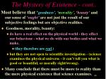 the mystery of existence cont1