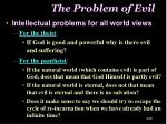 the problem of evil1