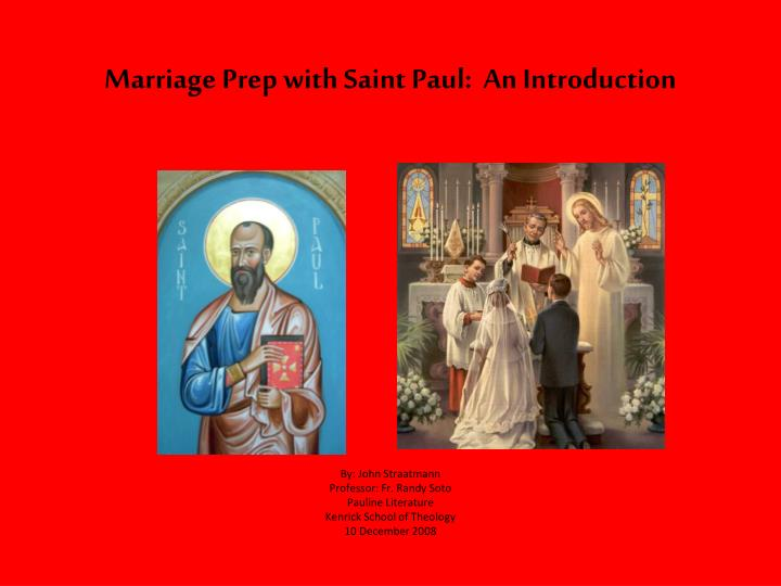 Marriage prep with saint paul an introduction