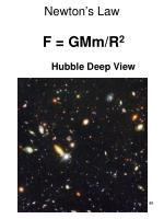 newton s law f gmm r 2