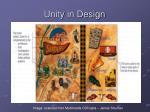 unity in design