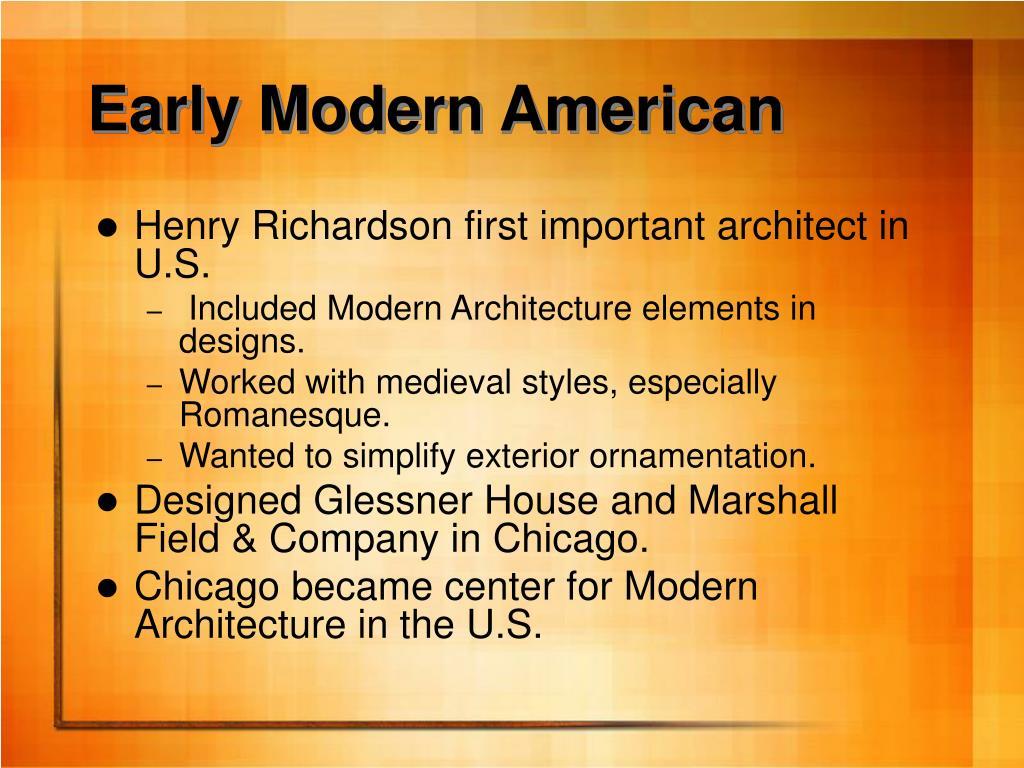 Early Modern American