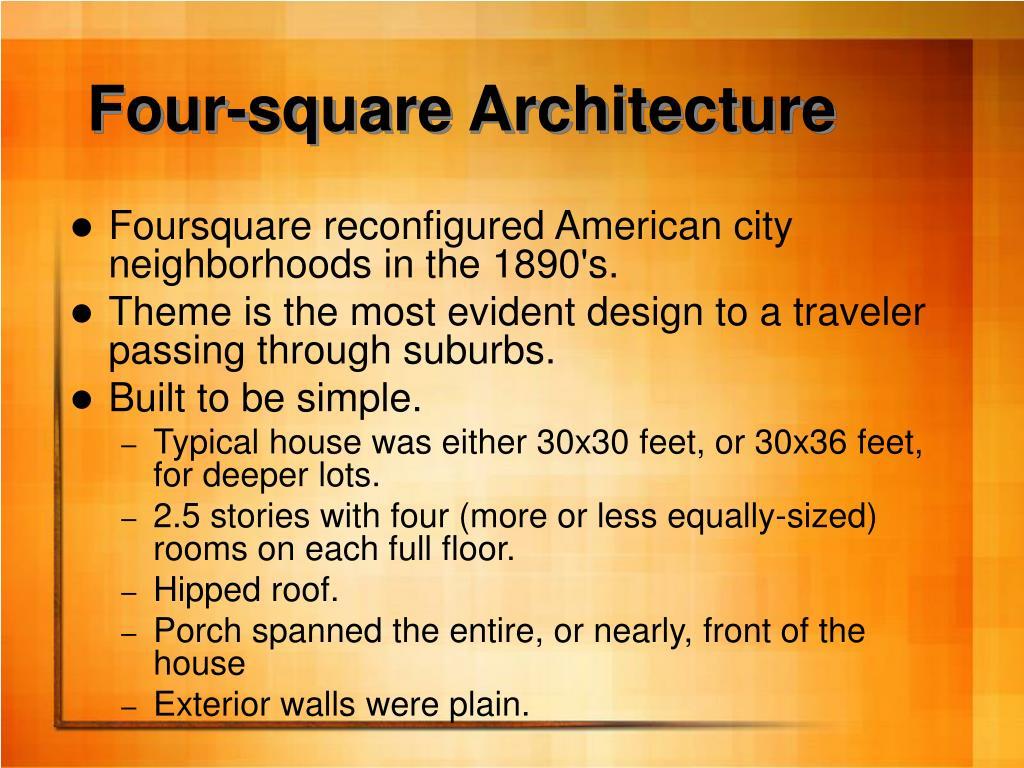 Four-square Architecture