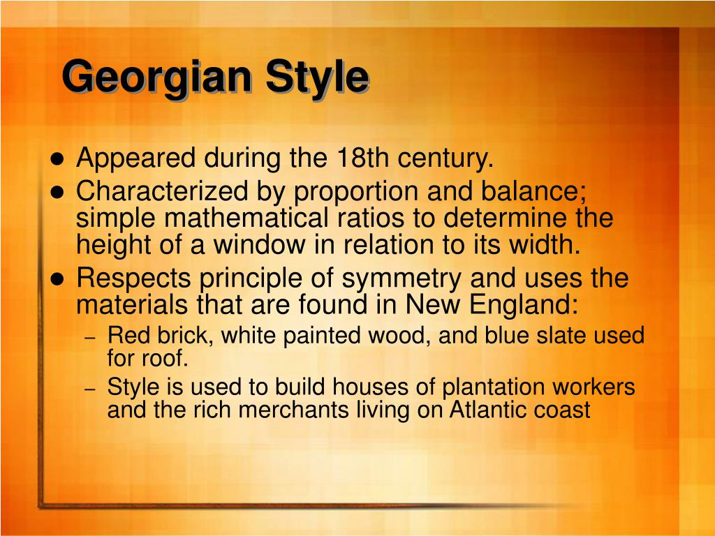 Georgian Style