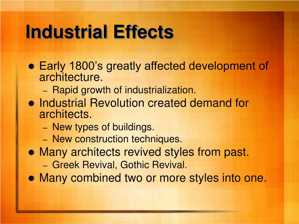 Industrial Effects