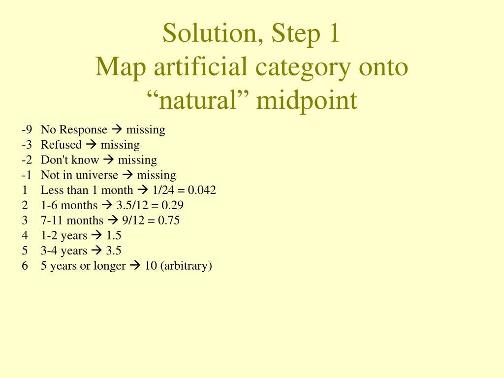 Solution, Step 1