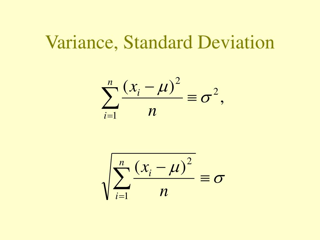Variance, Standard Deviation
