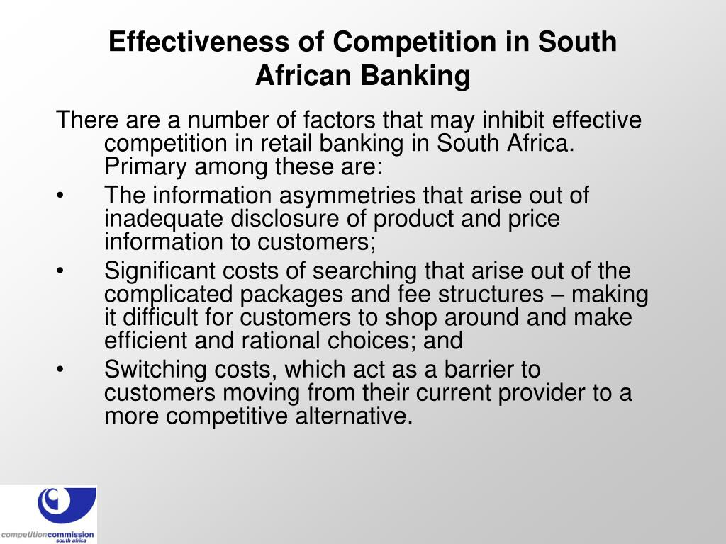 Effectiveness of Competition in South African Banking