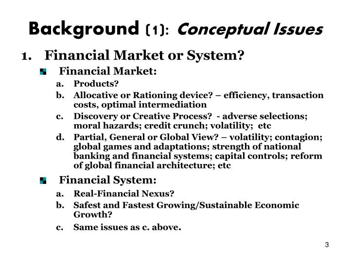 Background 1 conceptual issues