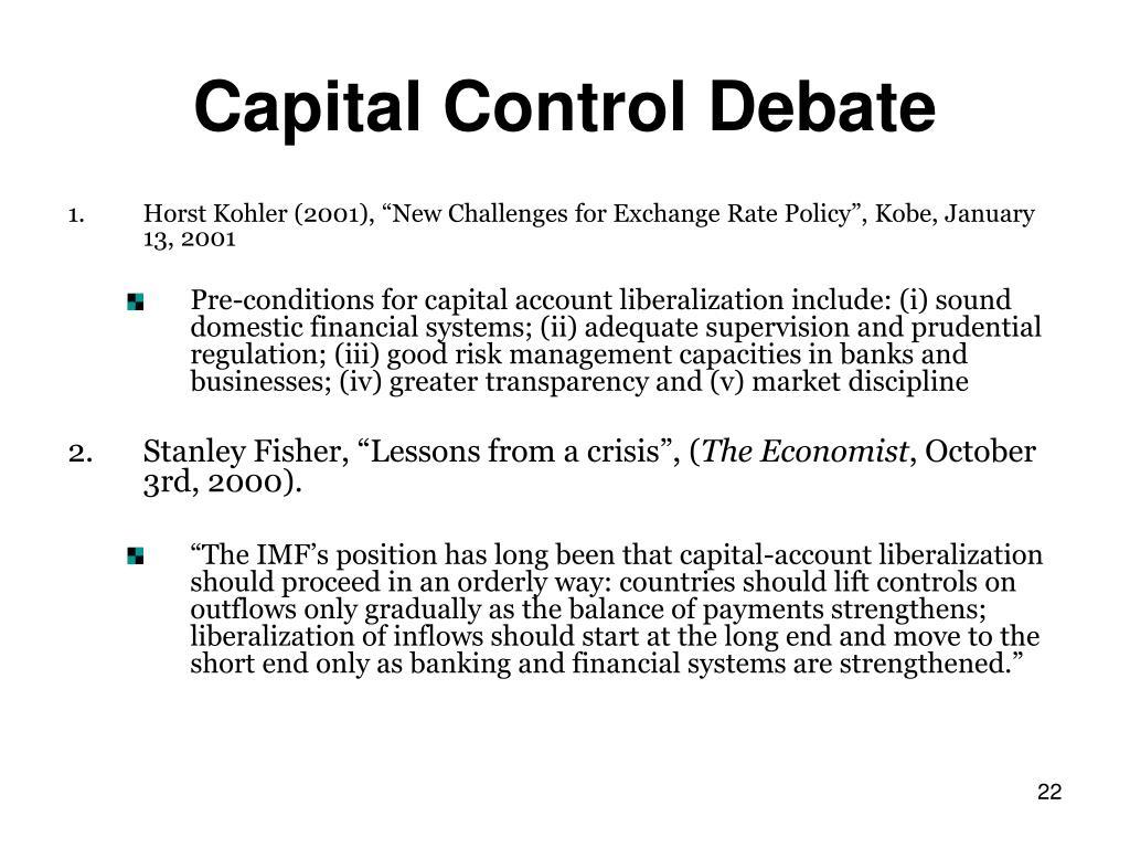 Capital Control Debate