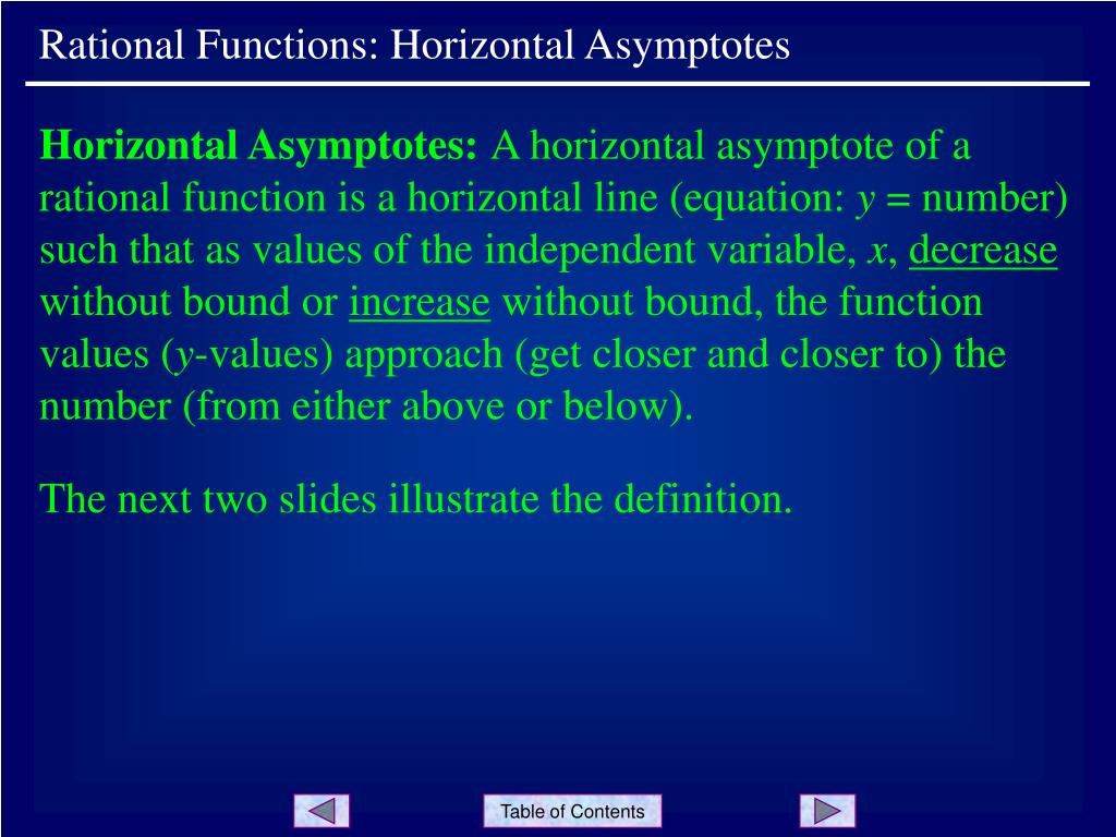 Rational Functions: Horizontal Asymptotes