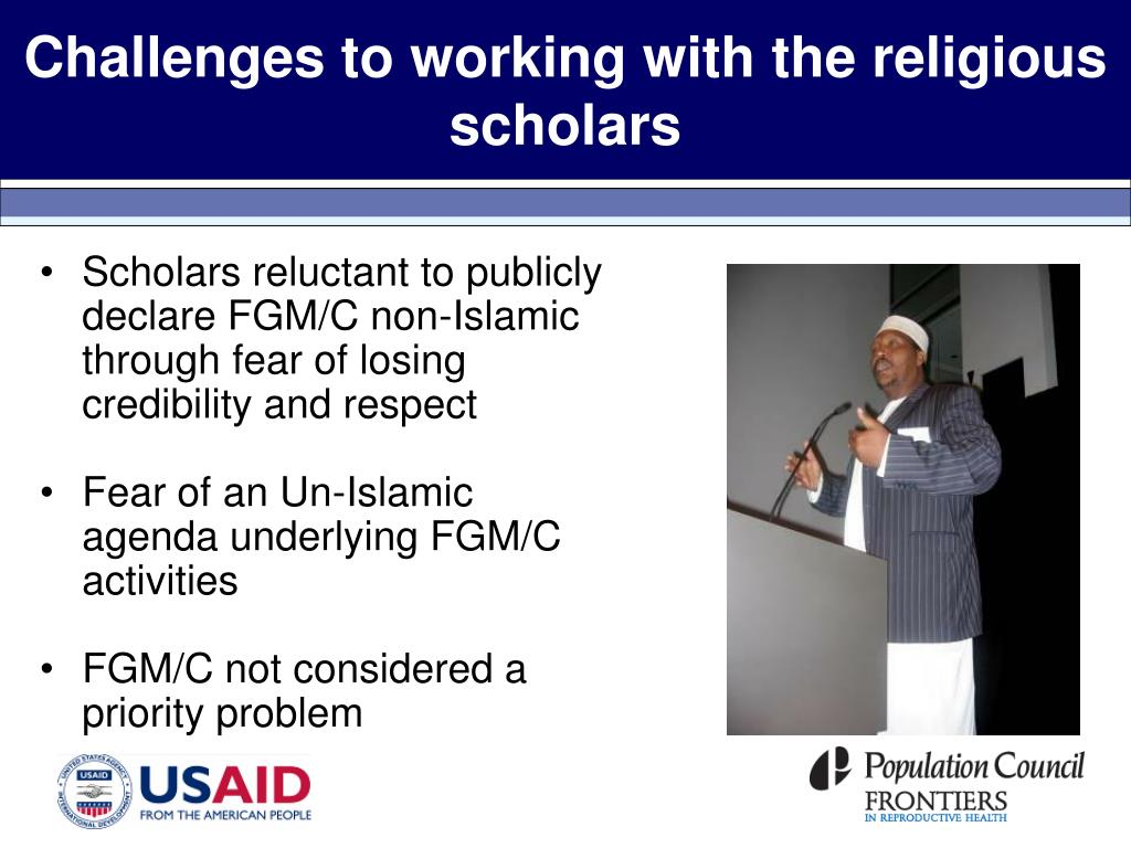 Challenges to working with the religious scholars