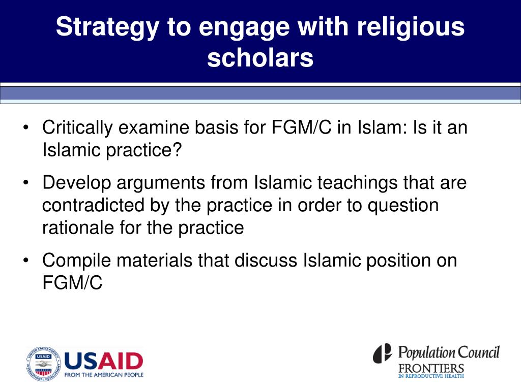 Strategy to engage with religious scholars