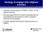strategy to engage with religious scholars10