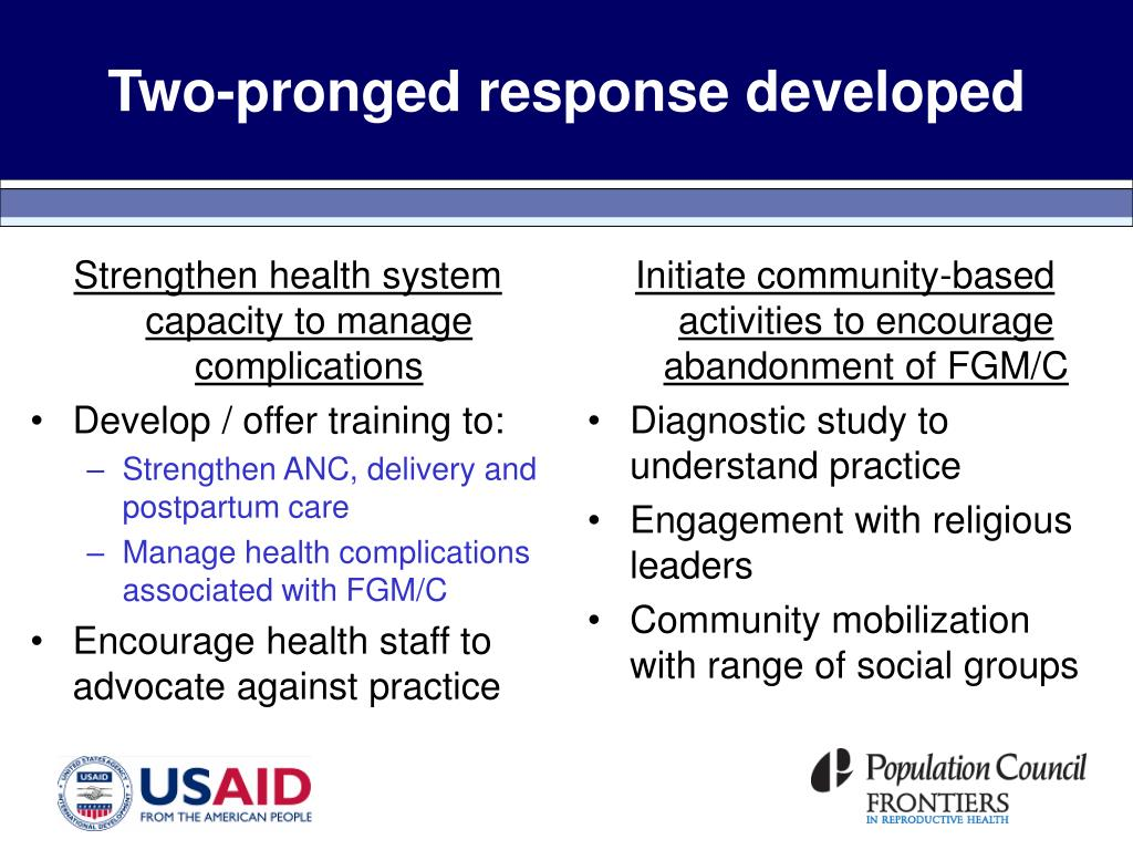 Two-pronged response developed