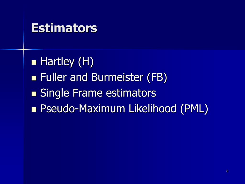 Estimators