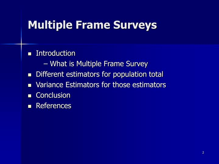 Multiple frame surveys2