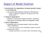 impact of model violation