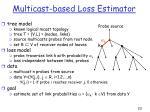 multicast based loss estimator
