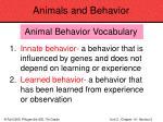animals and behavior72
