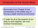introduction to the human body5
