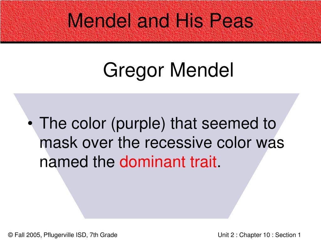 Mendel and His Peas