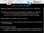 cb in one slide