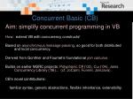 concurrent basic cb