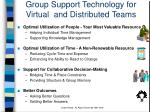 group support technology for virtual and distributed teams