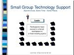 small group technology support synchronous same time same place