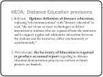heoa distance education provisions