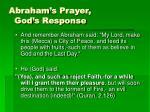 abraham s prayer god s response
