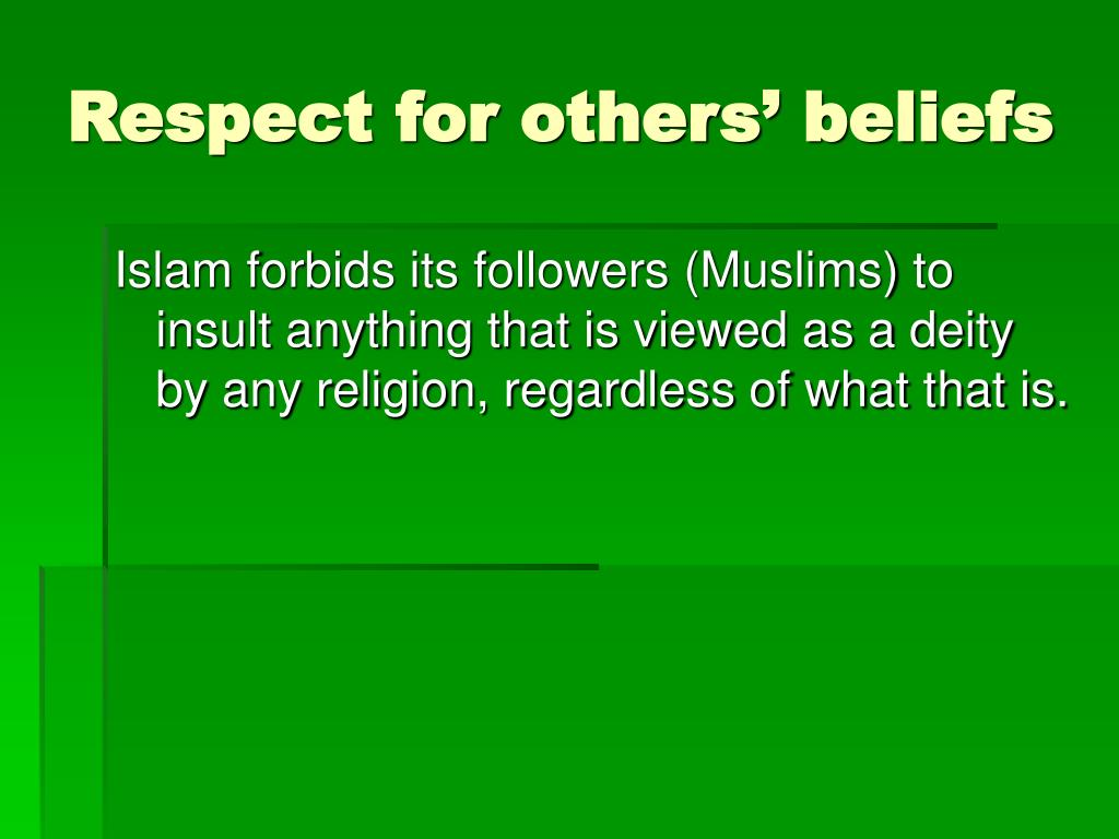 Respect for others' beliefs