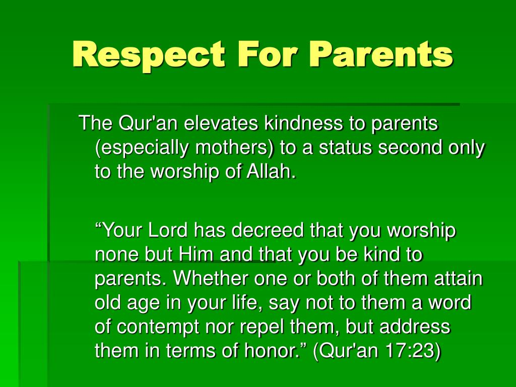 Respect For Parents