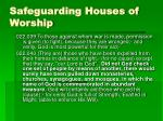 safeguarding houses of worship