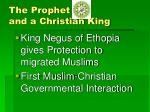 the prophet and a christian king