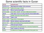 some scientific facts in quran