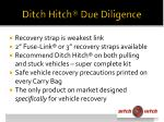 ditch hitch due diligence12