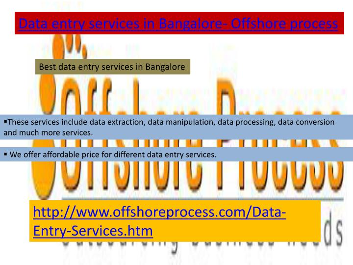 Data entry services in Bangalore- Offshore process