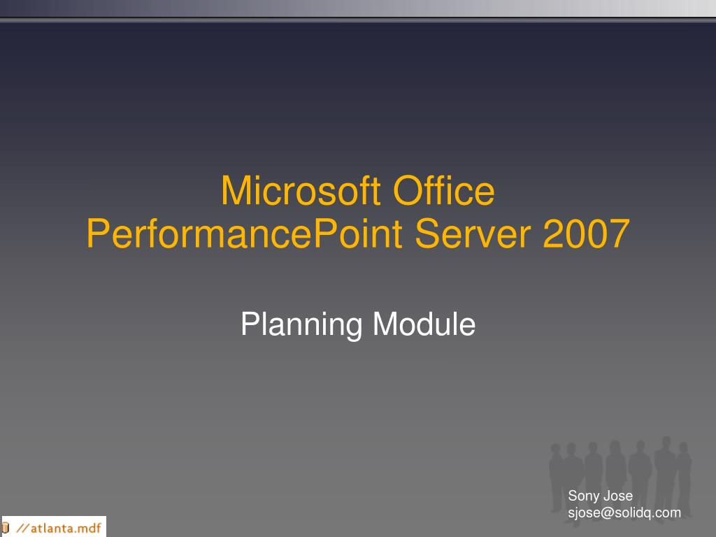 microsoft office performancepoint server 2007 l.