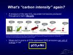 what s carbon intensity again