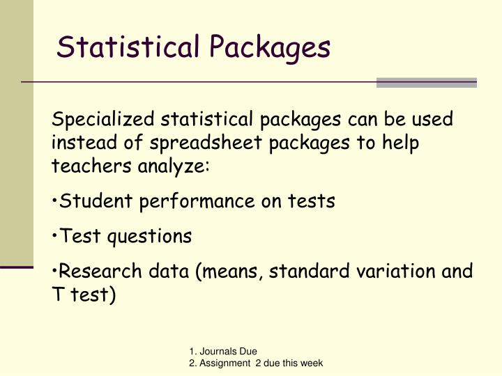 Statistical Packages