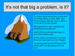 it s not that big a problem is it