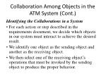 collaboration among objects in the atm system cont