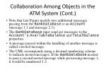 collaboration among objects in the atm system cont52