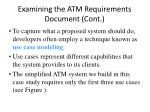 examining the atm requirements document cont10