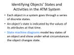identifying objects states and activities in the atm system