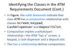 identifying the classes in the atm requirements document cont22