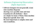 software engineering observation agile approach